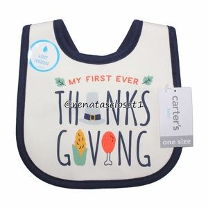 """Carter's Baby's """"My First Ever Thanksgiving"""" Bib"""